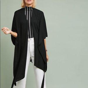 Anthropologie   Black Lucia Tied Kimono Sweater